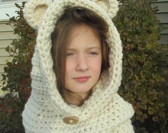 Bear Hoodie Cowl for children