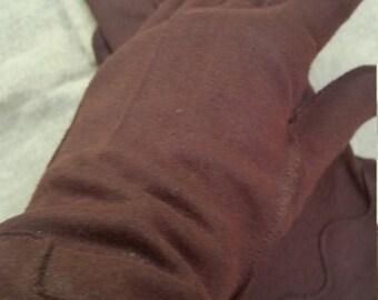 Antique Brown Cotton Gloves