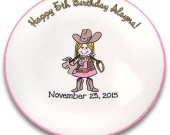 Cowboy / Cowgirl Birthday Signature Platter