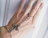 All Souls Cross Rosary Bracelet -Slave Bracelet- With Crystals and beautiful Crucifix