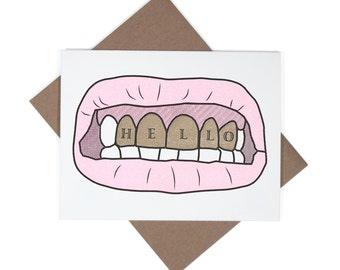 Gold Teeth card