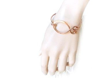Copper Bracelet, Copper Cuff, Hammered Bracelet, Minimalist Jewelry, Unisex Jewelry, Copper Jewelry, Unisex Bracelet, Made by Durango Rose