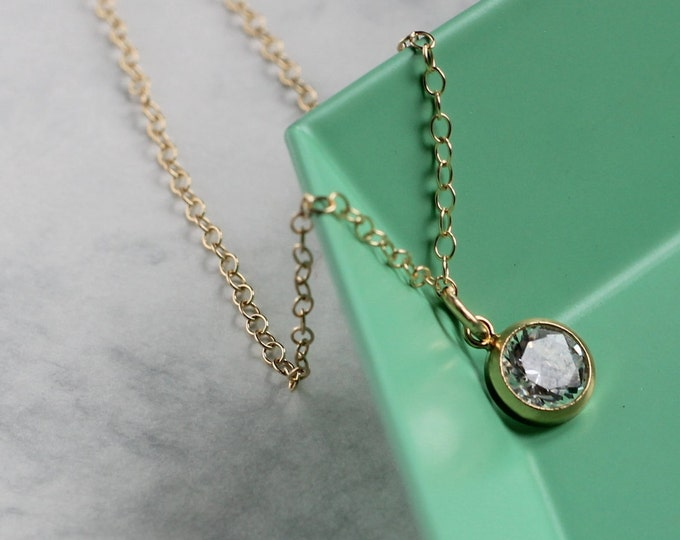 Tiny Crystal Layering Necklace - Gold Fill and Cubic Zirconia