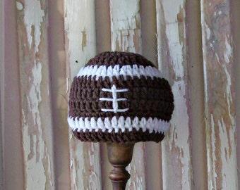 Baby Football Hat, Crochet Football Hat, Football Baby Boy, Newborn Football Hat, Football Photo Prop, Baby Hats for Boys, Baby Hat Crochet