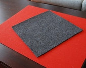 F15 Natural Gray Industrial Felt Square - Low Density