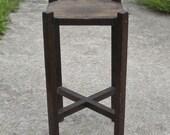 Vintage Primitive Mission Oak Craftsman Plant Stand
