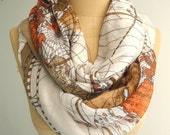 Map Infinity scarf Map Scarf Animal Print Scarf Circle scarf, Scarves, Christmas Gift Ideas For Her Women