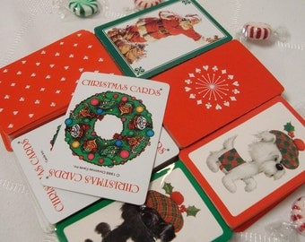 Playing Cards Christmas Six 52 Card Decks Scrapbooks Swaps Gift Tags Craft Supplies