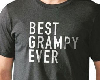 Fathers Day Gift Best Grampy Ever Men's T Shirt Grandpa Gift Husband Gift New Granddad Funny T-shirt