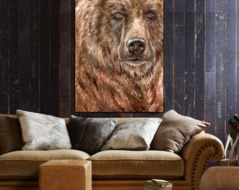 Grizzly Bear Art Bear Painting wall decor