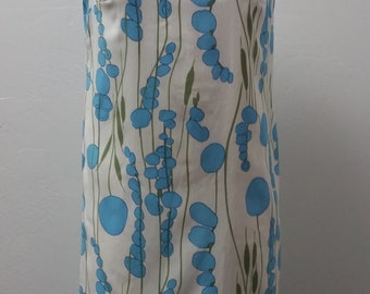 1960s Shift Dress by Fritzi, Botanical Print, Dacron Poly Crepe, Cotton Lining, Fitted, Szie S/M,  #59086