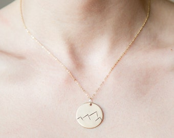 Round Mountain Range Necklace /\ We are made to conquer mountains