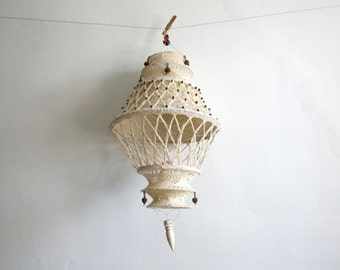 Macrame Hanging Lantern Sculpture