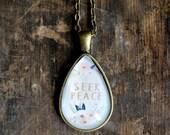 Inspirational Necklace Set - Seek Peace - Positive Jewelry - Motivational Necklace