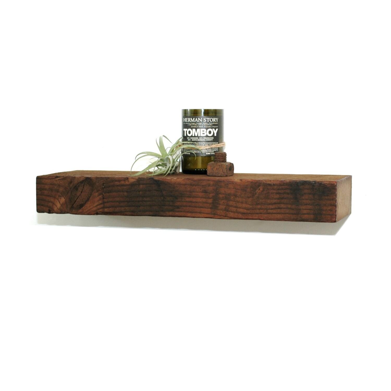 Reclaimed Wood Floating Shelf 23