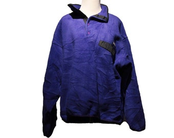 Vintage Purple Patagonia Synchilla Purple Blue Snap Pullover Fleece Jacket Size Large