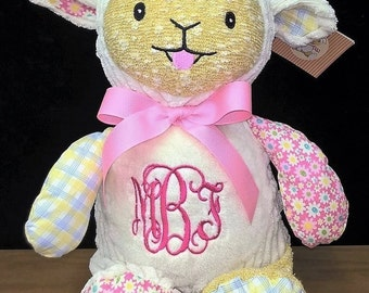 Personalized Cubbie Lamb Harlequin Collection Baby Cubbies Monogrammed Stuffed Animal