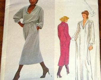 Vogue 2056 Jerry Silverman Caftan Maxi Dress Womens Misses Vintage 1970s American Designer Sewing Pattern Size 10 Bust 32 Uncut Factory Fold