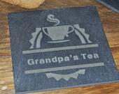 Personalised Tea Slate Coaster