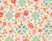 1/2 yard LAMINATED cotton fabric remnant (18 x 40) - Woodland Clearing Liesl Gibson RKaufman (aka slicker, oilcloth, coated fabric) BPA free