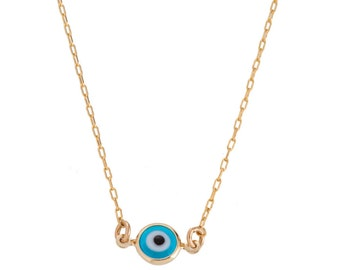 Gold Evil Eye Necklace, Blue eye,  Evil Eye Jewelry, Protection Jewellery, circle eye necklace, kaballah jewelry, yoga jewelry, most popular