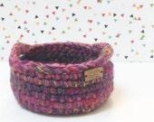 Catch All Basket - Crochet Bowl - Storage Basket with Handles - Home Decor - Crochet Basket