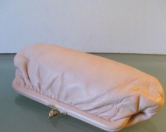 Vintage Calderon Napa Leather Clutch Bag