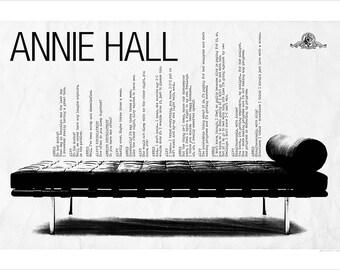 Annie Hall, Woody Allen Poster 19x13