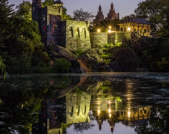 Belvedere Castle in Central Park - Reflections in the Pond- New York City Photography