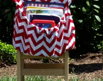 RED ChEvRoN // Seat Sacks // Chair Pockets // Teacher Classroom Organization <<16 inch PREMIUM>> End of Year SALE CoffeeKidsNDolls