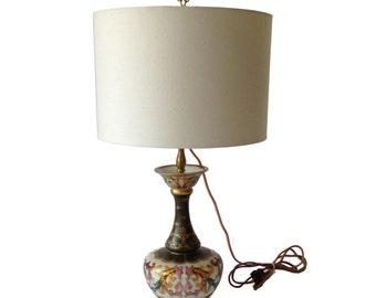 Handpainted Gourd Table Lamp