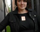 Large Pendant Copper Steampunk Pendant Textured Necklace Copper Necklace