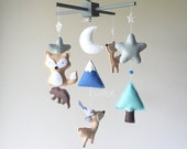 Baby mobile - Indian Mobile - native nursery - Teepee mobile - deer mobile - antlers mobile