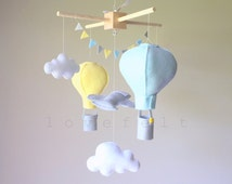 Baby mobile - Airplane Mobile -  hot air balloon mobile - Stars mobile - Cloud Mobile - Baby Mobile Cloud Stars