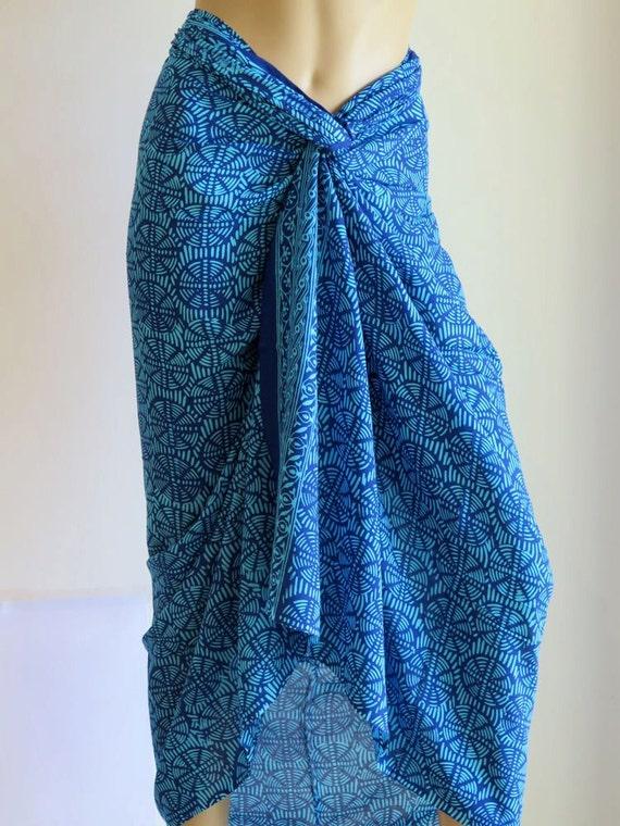 blau batik sarong strand sarong pareo e. Black Bedroom Furniture Sets. Home Design Ideas