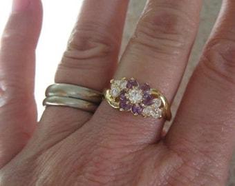 Amethyst vintage ring.  Ladies size 9.
