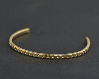 Patterned  14k Gold Filled Cuff