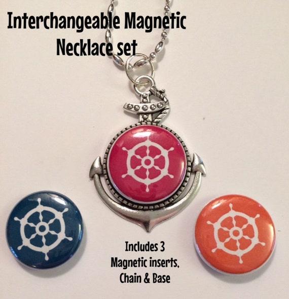 interchangeable anchor magnetic pendant necklace bracelet or