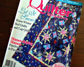 The Quilter Magazine-December2011/January 2012-15 Projects-97 Pages-Great Tips & Articles-Mostly Intermediate Skill Level-A Couple Beginner