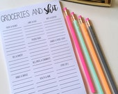Groceries & Sh*t Notepad // Grocery List // Grocery Categories // Funny Grocery List // Funny Notepad // Magnetic Notepad // Magnetic List