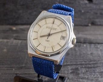 Mens watch, Vintage automatic Poljot mens watch with date window, russian watch, soviet mechanical watch, vintage mens watch ussr cccp