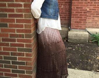 Darla's Ombré Dyed Motif & Lace Scalloped Crochet Skirt (PATTERN)