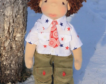 "Set of clothes for 16"" Waldorf type doll,doll clothes,clothes for boy doll.outfit"