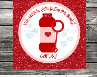 Printable Valentine Cards, Bubble Valentine's Day Cards, Classroom Cards, Valentine's Day,  Kids Valentine Cards, DIY Valentine's Cards