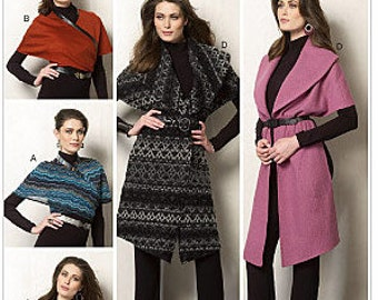 Vogue 8965 Misses' Set of Wraps Sewing Pattern