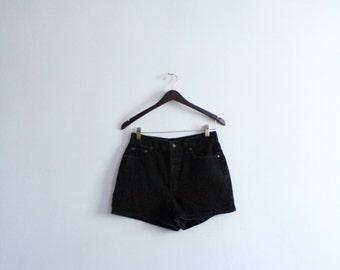 Classic 90s Black Denim Shorts