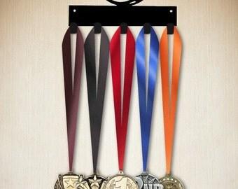 volleyball medal hanger, medal holder,  medal display 5  hook ( holds 5-15+ medals) gear, jackets etc.www.sporthooks.com