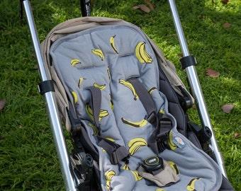 Organic cotton Banana Baby stroller liner, free shipping
