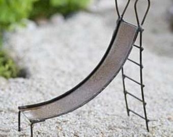 Fairy Garden Slide - Rustic Fairy Garden Accessories Fairy Furniture for Outdoor Fairy Houses Mini Gardens & Terrariums