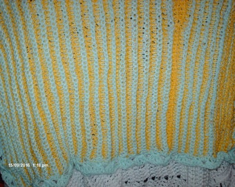Vintage Tunesian Style Baby Blanket